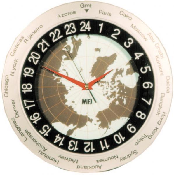 54cdf61d280 MFJ-115 Relógio de Parede com mapa mundi - RADIOHAUS ...